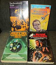 4 book lot philip k. dick vulcan's hammer penultimate truth our friends blade ru