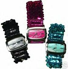 BLING!  TWO SEQUINED Stretch Women's Wrist WATCHES