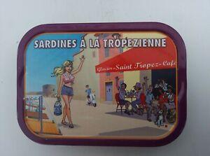Boite de sardines collector Saint- Tropez jeune Brigitte Bardot