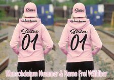 Sister Sister Hoodie Pullover 4er Set Partner Look Pärchen Viele Farben XS - 2XL
