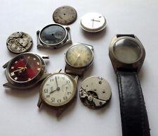 9 Stück rare vintage SWISS, GDR Uhren Teilen 50er Jahre - DELBANA, MEISTER ANKER