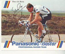 CYCLISME carte  cycliste THEO DE ROOY  équipe PANASONIC isostar 1988