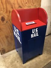 Vintage U.S. Mail USPS Collection Box Post Office From Santa Claus Illinois Prop