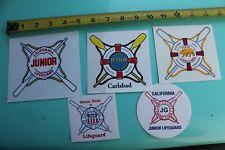 California Junior Lifeguard Safety Carlsbad Swim Surfing Sticker - Lot of 5