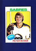 Peter McNab RC 1975-76 TOPPS Hockey #252 (NM) Buffalo Sabres
