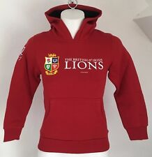 British and Irish Lions 2017 Red Pullover Hoody by Sportfolio Size Boys 10 Years