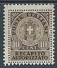 1930 REGNO RECAPITO AUTORIZZATO 10 CENT MH * - B6