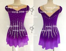 New listing Competition Skating Wear Handmade High Elasticity Cute princess style purple