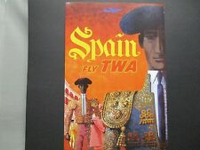 TWA   Airline  Travel Poster Spain   American Express Travel Office