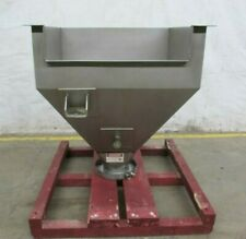 """New listing 15 cu.ft. Stainless Steel Hopper 43"""" x 43"""" x 43"""" deep w/ 10""""Id Flanged Discharge"""