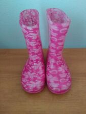 GIRLS PAW PATROL PINK WELLINGTONS , SIZE 4,