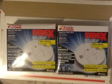 2 x  KN-COSM-IBA  SMOKE & CARBON MONOXIDE ALARMS 120V AC WITH BATTERY BACK-UP