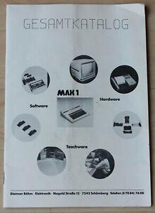MAX 1 Gesamtkatalog basierend auf MCU 6803 4,194 MHz