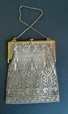 vintage French metal beaded purse