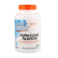 Doctor s Best Best Alpha-Lipoic Acid 600 mg 180 Veggie Caps Vegan