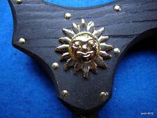 Mid-Night-Sun black ZODIAC SOLAR dress CANE~{2] sun medallions Great Useful gift