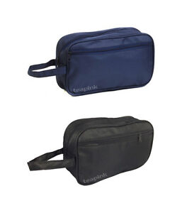 MEN TOILETRY BAGS - WASH BAGS - TRAVEL BAG - GROOMING BAG BLUE & BLACK OPTIONS