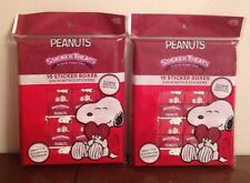 LOT of 2 Peanuts Snoopy Sticker Treats 16 Boxes Each Party Favors Classroom