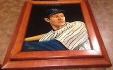 Joe Dimaggio New York Yankees - 1 Of A Kind Original Hand Painted Framed Photo