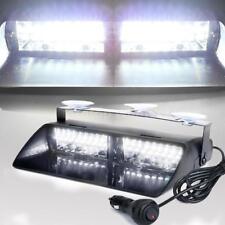 DC 12V White 16 LED Strobe Flash Light Car Dash Emergency Warning Lamp U6H6