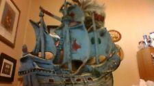 Door Stop Sailing Ship Mayflower cast iron original paint great condition