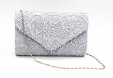 Women's Satin Lace Clutch Bag Evening Bridal Bag Wedding Fashion Prom Vintage