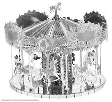 Fascinations Metal Earth 3D Laser Cut Steel Puzzle Model Kit Merry Go Round
