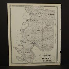 Indiana Map Pike or Gibson County 1876 Reverses Special Price! K15#58