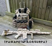 "Russian Original Camo Weapon Stencils Set AOR / SURPAT by ""Chameleon"" NEW"