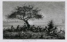 Gravure du XIXe siècle et avant paysage pour Classicisme