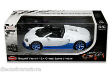 RASTAR R/C RADIO REMOTE CONTROL CAR BUGATTI GRAND SPORT VITESSE 1/14 WHITE BLUE