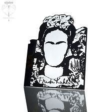 Frida Kahlo Self Portrait Shiny Acrylic Black Mirror Office Desk Fun Home Decor