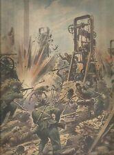 K0979 L'armata italiana si scontra coi bolscevichi in Russia - Stampa antica