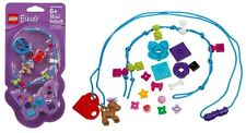 LEGO 853440-Friends Schmuck-Set-Halskette-Armband-Anhänger-Hund-Blume-Herz-Neu