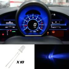 10) LED MINI BULBS Blue 5mm INSTRUMENT Interior CLUSTER GAUGE For Volvo C70