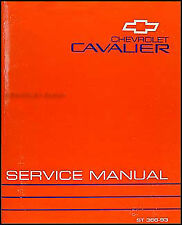 1993 Chevy Cavalier Repair Shop Manual 93 Chevrolet Original Service RS VL Z24