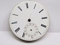 Antique No Name Pocket Watch Movement. 44 mm in size. porcelain dial