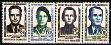France 1958 Sc879-82Mi1193-6 4v mnh Heroes of the French Underground in WWII