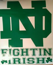 Notre Dame ND DECALS Green- 2 CORNHOLE DECALS  Vinyl Decals Vehicle