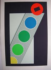 Michael Argov (1920-1982) konstruktivist KOMPOS ORIG serigrafie 1971 firmato