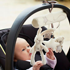 Newly Cute Bunny Baby Infant Activity Musical Toys Rattle Crib Stroller Car Seat