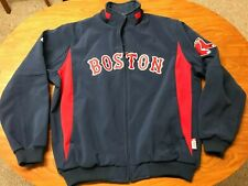 MENS LIGHTLY WORN MAJESTIC BOSTON RED SOX THERMA BASE ZIP UP DUGOUT JACKET XL