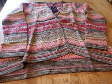 """NWT! """"CHAPS"""" LADIES MULTI COLOR FLYAWAY OPEN CARDIGAN SWEATER SIZE M  $79."""