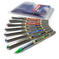 Uniball UB-157 Rollerball Pens - Assorted Colours - 0.7mm Medium Nib - Pack of 8