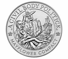 IN HAND UNOPENED Mayflower 400th Anniversary Silver Reverse Proof Medal