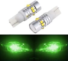 LED Light 50W 194 Green Two Bulbs Front Side Marker Parking Show Replace Fit T10
