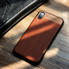 Luxury Genuine Real Leather Phone Case Cover For  iPhone X 8 7 6S Plus