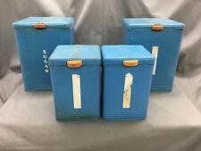 Vintage 4 Pc. Kreamer Metal Canister Set Sugar Flour Retro Kitchen {DD395}