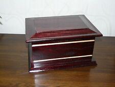 LESBURY cherry mahogany wooden ashes casket Sympathy/ Bereavement
