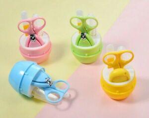 4Pcs Cartoon Baby Nail Care Set Child Scissors Nail Clipper Kids Toy Playing Kit